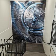 Sisustus IDEA, portaikko yritystila